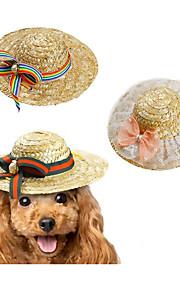 Gato Cachorro Bandanas & Chapéus Roupas para Cães Outros Material Primavera/Outono/Inverno/Verão novo Trançadas/De Corda Lazer Laço Laço