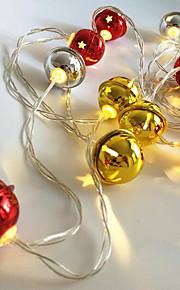 1pc 20 ledd ledet lysklokkeformet gull& sølvfarge (ingen rød farge) 3 * aa batteri drevet uten batteri