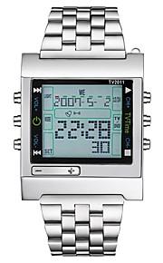 Homens Mulheres Quartzo Relogio digital Relógio Militar Relógio Esportivo Japanês Calendário Cronógrafo Impermeável Mostrador Grande LCD