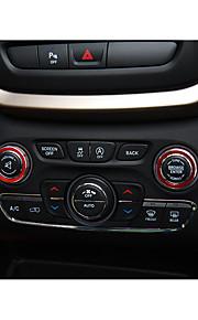 Automotivo Botão de som Gadgets de Interior Personalizáveis para Carros Para Jeep Todos os Anos Cherokee liga de alumínio