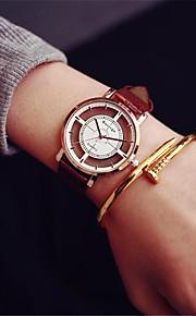 Heren Dames Kwarts Skeleton horloge Sporthorloge Chinees Chronograaf Vrijetijdshorloge Leer Band Informeel Modieus Zwart Wit Bruin