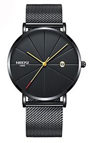 Homens Mulheres Relógio de Moda Relógio Elegante Relógio Casual Japanês Quartzo Calendário Cronógrafo Impermeável Relógio Casual Aço