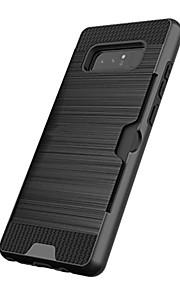 Кейс для Назначение SSamsung Galaxy Note 8 Note 5 Бумажник для карт Защита от удара Задняя крышка Сплошной цвет Твердый пластик для Note