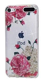 케이스 애플 ipod touch5 / 6 케이스 커버 높은 관통 파우더 imd 흰색 꽃 소프트 tpu 전화 케이스
