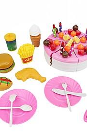 Rollelegetøj Byggeværktøjer Børne kogeapparater Legetøj Cirkelformet Frugt Mad&Drikke Mad og drikke Drenge Piger Stk.