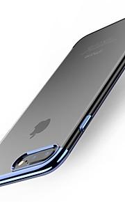 Kılıf Na Apple iPhone X iPhone 8 Plus Galwanizowane Czarne etui Solid Color Miękkie TPU na iPhone X iPhone 8 Plus iPhone 8 iPhone 7 Plus