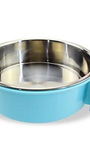 Gato Cachorro Tigelas e Bebedouros Animais de Estimação Tigelas e alimentação de animais Durável Verde Azul Rosa claro
