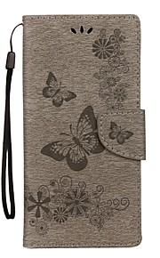 מגן עבור Samsung Galaxy Note 8 ארנק מחזיק כרטיסים עם מעמד נפתח-נסגר מובלט גוף מלא פרפר קשיח דמוי עור ל Note 8