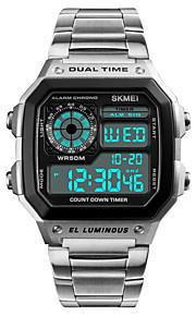 Homens Relógio Esportivo Relógio de Pulso Relogio digital Japanês Digital Alarme Calendário Cronógrafo Impermeável Dois Fusos Horários