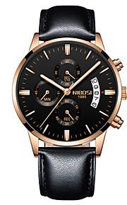 Homens Quartzo Relógio de Pulso Chinês Calendário Cronógrafo Impermeável Relógio Casual Noctilucente Luminoso Aço Inoxidável Banda Luxo