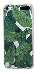 케이스 애플 ipod touch5 / 6 케이스 커버 높은 관통 파우더 imd 바나나 잎 소프트 tpu 전화 케이스