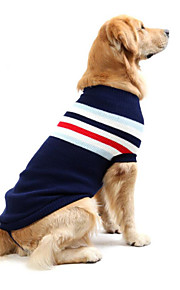 犬 セーター 犬用ウェア カジュアル/普段着 ストライプ ダークブルー レッド コスチューム ペット用