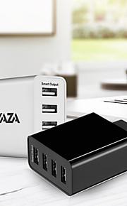 waza hordozható töltő usb töltő eu dugó gyors töltés / több port 4 usb port 5 a iphone 8 plus / iphone 8 / s8 plusz