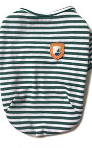 犬 Tシャツ 犬用ウェア カジュアル/普段着 ストラップ柄 ブラック レッド グリーン コスチューム ペット用