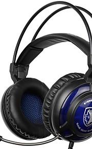 sa-805 sopra la fascia dell'orecchio cuffie cablate auricolari da gioco in plastica isolanti con microfono con controllo del volume