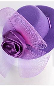 Kot Pies Kapelusze, czapki i chusty Ubrania dla psów Impreza/Wieczór Elegancki Kwiat Przezroczyste i zwiewne Stały Purple Yellow Niebieski