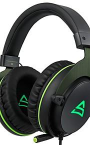 Supsoo G817 머리띠 유선 헤드폰 동적 플라스틱 게임 이어폰 마이크 포함 헤드폰