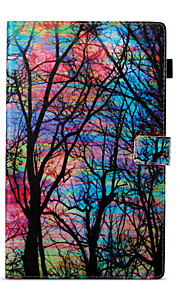 Case For Amazon Card Holder Wallet with Stand Pattern Auto Sleep/Wake Up Full Body Tree Hard PU Leather for Kindle Fire hd 10(7th