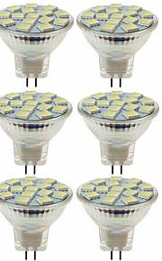 SENCART 6pcs 80W 5W 260 lm MR11 LED-spotpærer MR11 15 leds SMD 5060 Dekorativ Varm hvit Kjølig hvit DC 12V