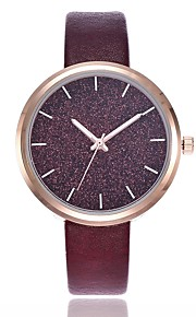 Mulheres Relógio Pavé Relógio Elegante Relógio de Moda Relógio Casual Chinês Quartzo Relógio Casual PU Banda Casual Fashion Preta Azul