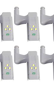 YWXLIGHT® 6pcs LED Night Light Kjølig hvit Andre batteridrevne Garderobe Skap Automatisk bryter Hjemmesikkerhet Dekorasjon