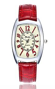 Mulheres Relógio Elegante Relógio de Moda Relógio Casual Chinês Quartzo Relógio Casual PU Banda Casual Fashion Branco Azul Vermelho