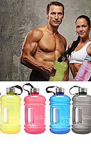 Sports Water Bottles Casual Fitness Multifunctional Plastics - 1 Black Dark Blue Sky Blue Red Green