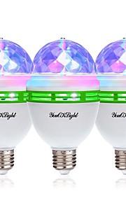 YouOKLight 3pcs 3W - lm E26/E27 LED-globepærer 3 leds Høyeffekts-LED Dekorativ RGB 85-265V