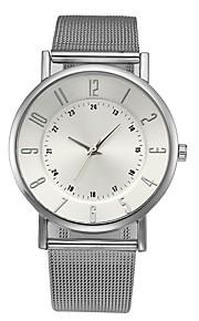 Homens Mulheres Relógio Elegante Relógio de Moda Chinês Quartzo Cronógrafo Relógio Casual Aço Inoxidável Banda Casual Elegant Prata