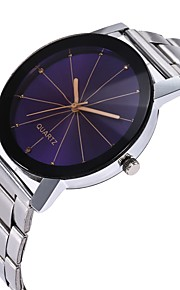 Homens Mulheres Relógio de Moda Relógio Casual Chinês Quartzo Cronógrafo Mostrador Grande Aço Inoxidável Banda Minimalista Fashion Prata