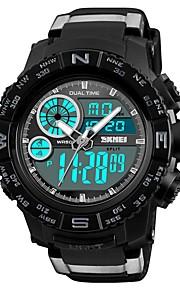 SKMEI Homens Digital Relógio de Moda Relógio Esportivo Relógio Casual Chinês Calendário Cronógrafo Impermeável Noctilucente Cronômetro PU