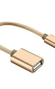 OTG Type-C Adaptateur de câble USB OTG Adaptateur Pour Macbook Samsung Huawei LG Nokia Lenovo Xiaomi Motorola HTC Sony MacBook Pro 20cm