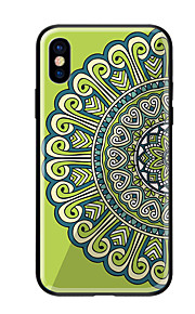 Custodia Per Apple iPhone X iPhone 8 Fantasia/disegno Per retro Fiori Mandala Resistente Vetro temperato per iPhone X iPhone 8 Plus