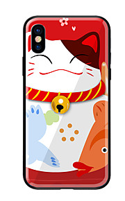 Custodia Per Apple iPhone X iPhone 8 Fantasia/disegno Per retro Gatto Resistente Vetro temperato per iPhone X iPhone 8 Plus iPhone 8