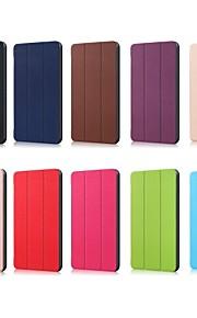 Funda Para Huawei MediaPad MediaPad M5 10 con Soporte Magnética Origami Funda de Cuerpo Entero Un Color Dura Cuero de PU para MediaPad M5