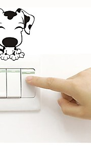 Väggdekal Dekrativa Väggstickers Klistermärken för strömbrytare Klistermärken för kylskåp Toalettstickers - Väggstickers Flygplan Djur