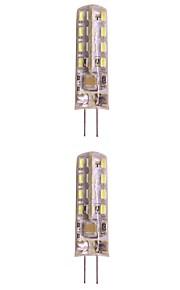 WeiXuan 6pcs 2W 160lm lm G4 LED-lamper med G-sokkel T 32pcs leds SMD 3014 Varm hvit Kjølig hvit 220V-240V