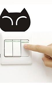 Väggdekal Klistermärken för strömbrytare Toalettstickers - Väggstickers Flygplan Djur Kan tas bort
