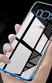 ケース 用途 Samsung Galaxy S9 S9 Plus メッキ仕上げ 半透明 バックカバー ソリッド ソフト TPU のために S9 Plus S9 S8 Plus S8