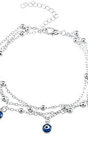 Dame Charm-armbånd Afslappet Mode Legering Guld Sølv Det onde øje Smykker Daglig I-byen-tøj Kostume smykker