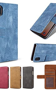 Case For Apple iPhone X iPhone 8 Card Holder Wallet Flip Full Body Cases Solid Colored Hard PU Leather for iPhone X iPhone 8 Plus iPhone