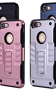 Case For Apple iPhone 6 iPhone 6 Plus Shockproof with Stand Back Cover Solid Colored Hard PC for iPhone 6s Plus iPhone 6s iPhone 6 Plus
