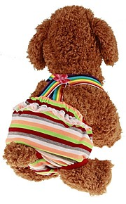 Pets Jumpsuit Dog Clothes Stripe / Princess Rainbow Padded Fabric Costume For Pets Male Sports & Outdoors / Dresses&Skirts