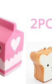 MINGYUAN Stress Reliever Milk Box Parent-Child Interaction / Decompression Toys / Lovely 2pcs All Gift
