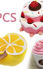 MINGYUAN Stress Reliever Cake Parent-Child Interaction / Decompression Toys / Lovely 3pcs All Gift