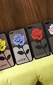 Funda Para Apple iPhone 6 / iPhone 7 Traslúcido Funda Trasera Flor Dura TPU / ordenador personal para iPhone X / iPhone 8 Plus / iPhone 8