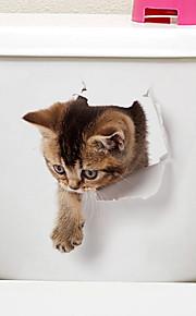 Naklejki toaleta - Naklejki naścienne ze zwierzętami Zwierzęta / 3D Salon / Sypialnia / Łazienka
