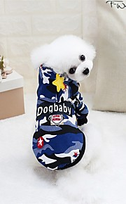 Rodents / Dogs / Cats Sweater / Sweatshirt / Jumpsuit Dog Clothes Solid Colored / Geometric Green / Blue Cotton Costume For Pets Female Sports & Outdoors / Stylish