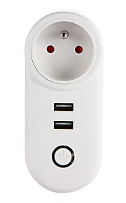 weto w-t04 fr wifi smart plug dla inteligentnego domu pilot działa z gniazdem alexa google home timer dla ios android