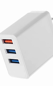 Portable Charger USB Charger US Plug Multi-Output / QC 3.0 3 USB Ports 3.1 A 100~240 V for Universal
